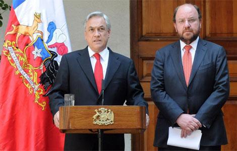 El presidente Piñera junto a su ministro de Exteriores. I Efe
