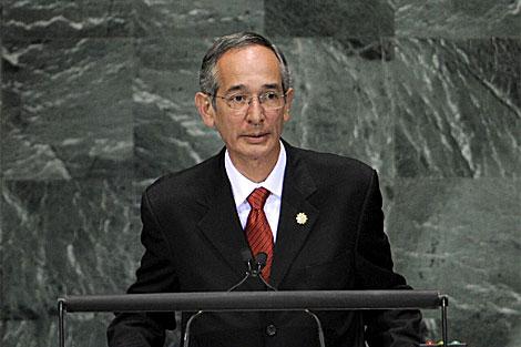 El presidente de Guatemala, Álvaro Colom, en la cumbre de la ONU. | Efe