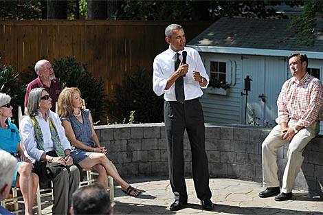 El presidente Obama en Virginia durante una minigira electoral.   AFP