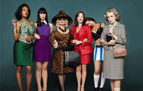 El reparto de de la versión teatral de 'Mujeres al borde de un ataque de nervios'.