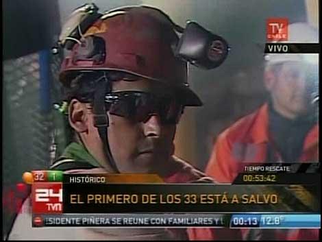 Florencio Ávalos, en una imagen captada por la TV chilena.   Afp