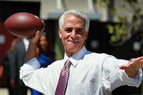 Charlie Crist, actual gobernador de Florida y candidato independiente al Senado. | AFP