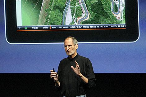 Steve Jobs hablaba de iPad de Apple. | Foto archivo Reuters