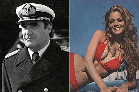 El ex dictador argentino Emilio Massera y la actriz Graciela Alfano.