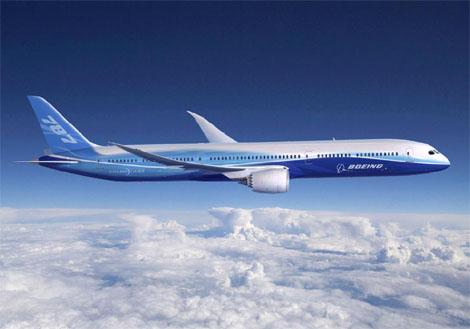 Recreación del Boeing 787. | Efe