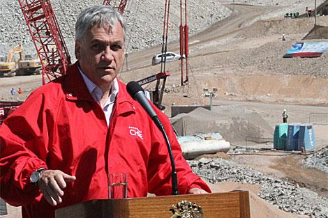 Piñera en la mina de San José. | J. Barreno