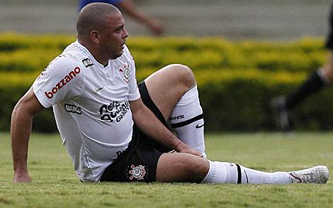 Ronaldo, durante el partido del domingo contra el Goiás. | Reuters