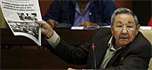 Raúl Castro en el Parlamento. | AP
