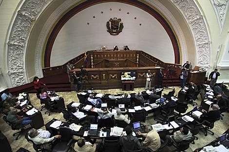 Los diputados en la Asamblea Nacional de Venezuela. | AP