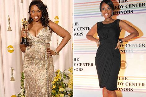 Jennifer Hudson antes y después de su perdida de peso.