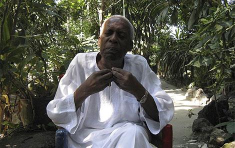 Max Beauvoir, sacerdote supremo del vudú en Haití.