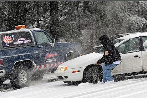 Tormenta de nieve en el estado de Carolina del Norte. | AP