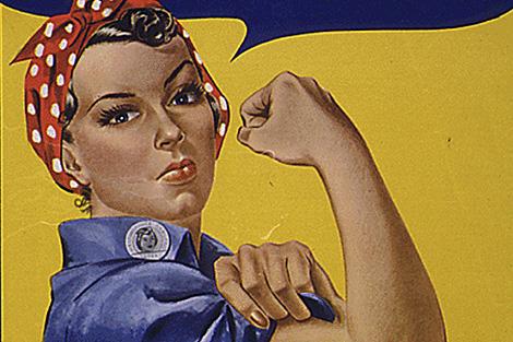 El póster protagonizado por Geraldine Doyle. | AFP/National Archives
