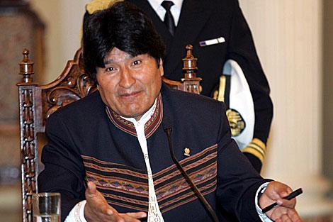 Evo Morales habla con la prensa en La Paz. | Efe