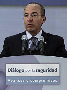 El presidente Felipe Calderón.   Efe