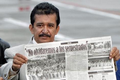 Armando Acuña tras su liberación.   Efe
