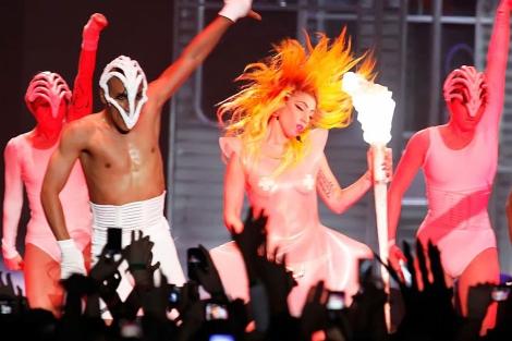 Ladi Gaga en concierto. | AFP