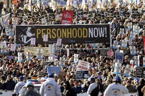 Manifestación contra el aborto en Washington en 2009.