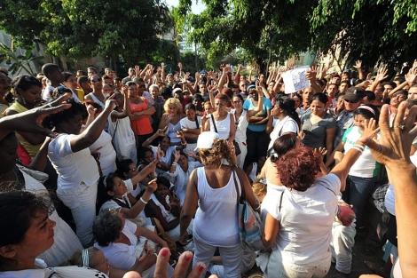 Las Damas de Blanco el pasado 27 de febrero en La Habana. | Efe
