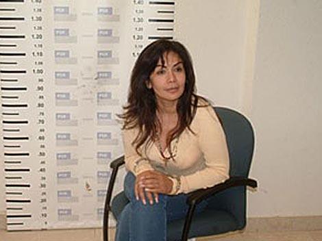 Sandra Ávila Beltrán, tras ser detenida en 2007.
