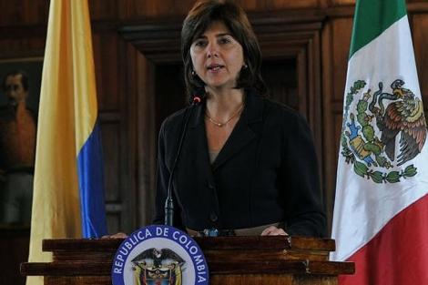 La ministra de Relaciones Exteriores de Colombia, María Ángela Holguín. I AFP