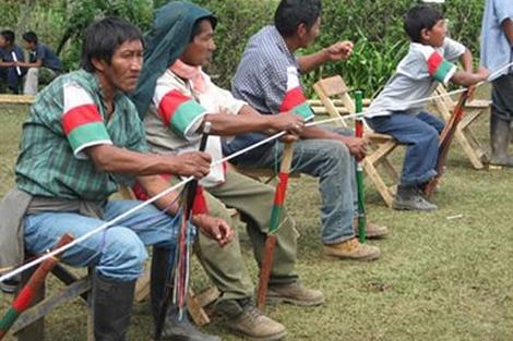 Hombres de la comunidad paese del Cauca. | unal.edu.co