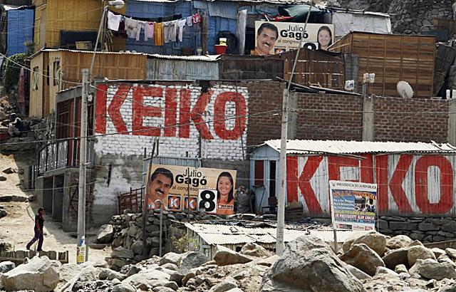 Campaña de Keiko Fujmori en el distrito de Huaycan, a las afueras de Lima. | Reuters