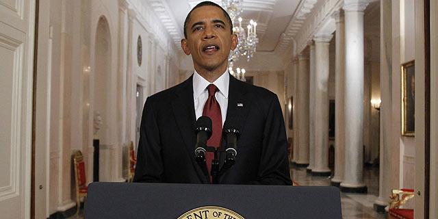 Barack Obama durante su comparecencia para anunciar la muerte de Bin Laden. | Reuters