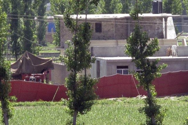 Imagen de la casa en la que Bin Laden vivía. | Efe