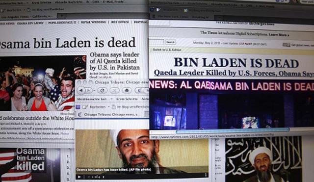 Varias webs de diarios en inglés informan de la muerte de Osama Bin Laden. | AFP