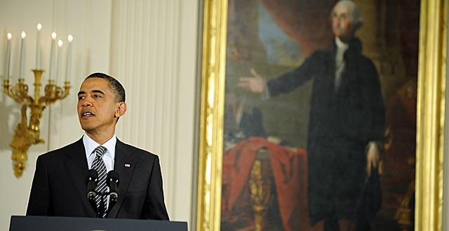 El presidente de Estados Unidos, Barack Obama, habla en la Casa Blanca. | AFP