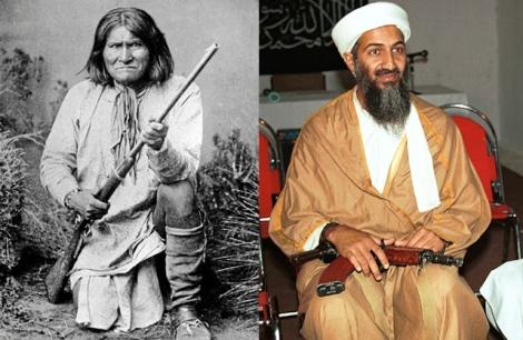 Geronimo (i) y Bin Laden posan armados. | Efe | Ap