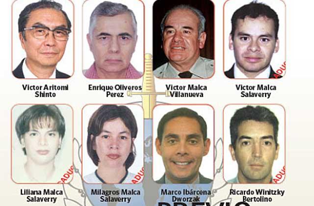 Vista de algunos de los prófugos del gobierno de Fujimori. | La República