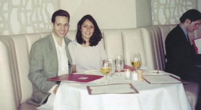 Paul y Alessandra Benedetti en el Windows of the World, el restaurante de las torres gemelas.