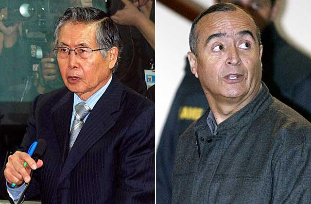 Alberto Fujimori y Vladimiro Montesinos.