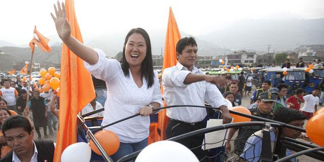 Keiko Fujimori en un acto de campaña reciente. I Efe