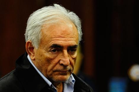 Strauss-Kahn, durante su comparecencia ante la juez. | AFP
