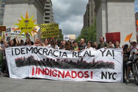 Manifestantes solidarios en Nueva York. I Foto: Carlos Fresneda
