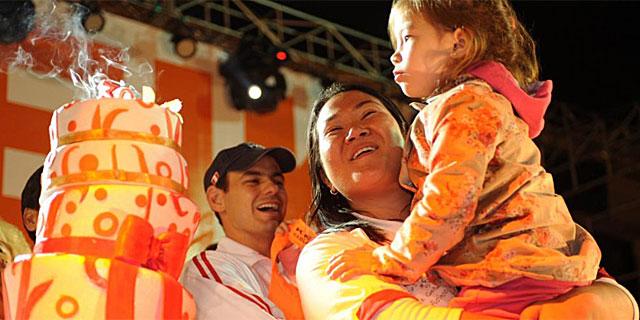 La candidata Keiko Fujimori en un acto de campaña. | Efe