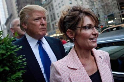 Trump y Palin, antes de su encuentro en Nueva York. | Afp