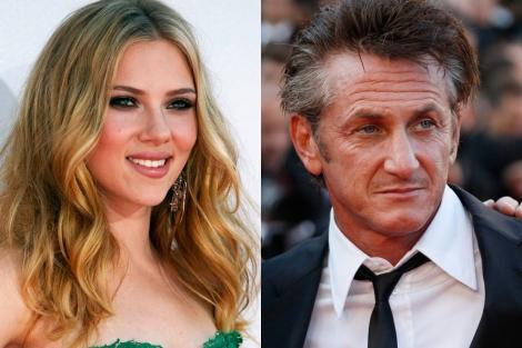 Scarlett Johansson y Sean Penn.