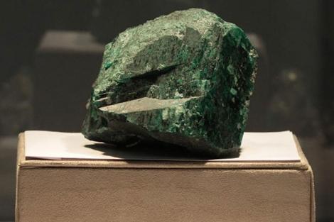 Detalle de 'Fura', la esmeralda más grande del mundo. | Efe