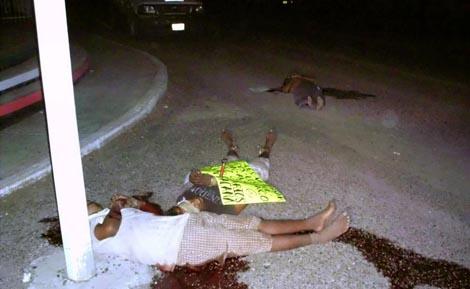 Tres de los cadáveres localizados en la matanza de este fin de semana. | Efe