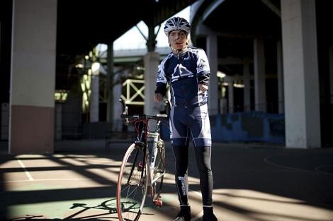 El ciclista cubano Damián López en Nueva York. | R. McCrea Jones