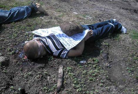 Uno de los cadáveres del fin de semana por la guerra interna de La Familia. | Efe