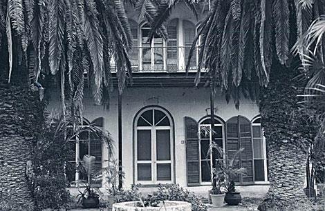 La casa de Key West en los años 30.