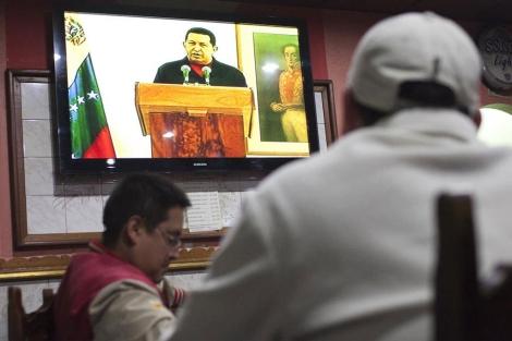 Discurso televisado de Hugo Chávez. | Reuters