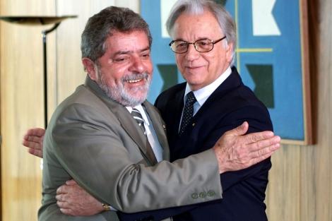 Itamar Franco con Lula da Silva. I AP