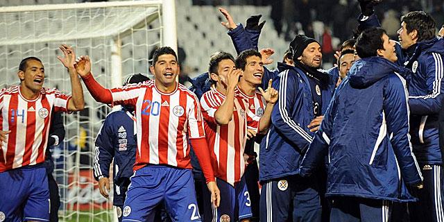 Los jugadores de Paraguay celebran el pase a la final de la Copa América. I AFP