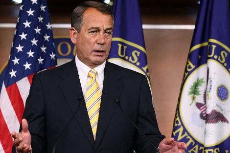 El republicano John Boehner en una conferencia de prensa en el Capitolio.   AFP